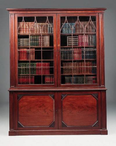 A William IV mahogany bookcase