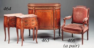 A mahogany and ormolu mounted