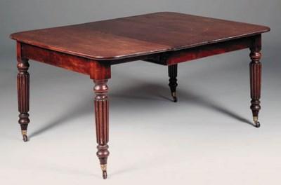 An early Victorian mahogany ex