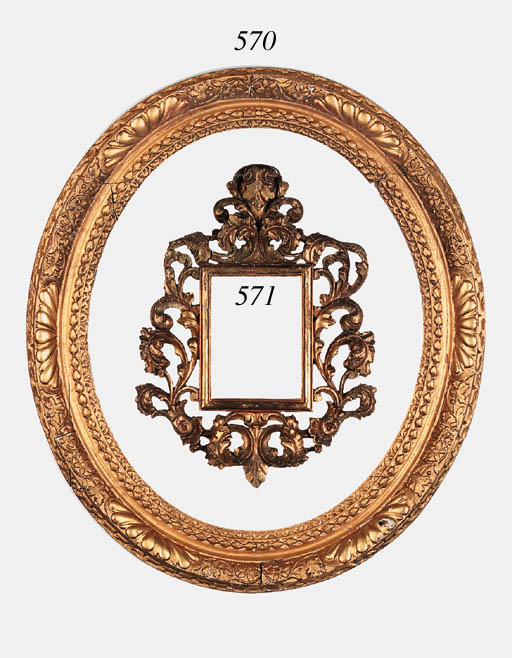 An English carved and gilded L
