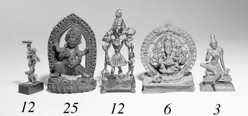 An Indian folk bronze figure o