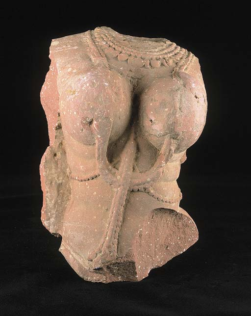 A Central Indian pink moulded