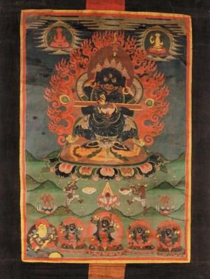 A Tibetan thanka