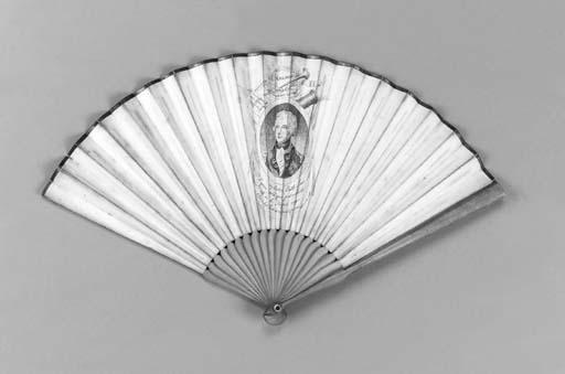 Nelson, a printed fan, the lea