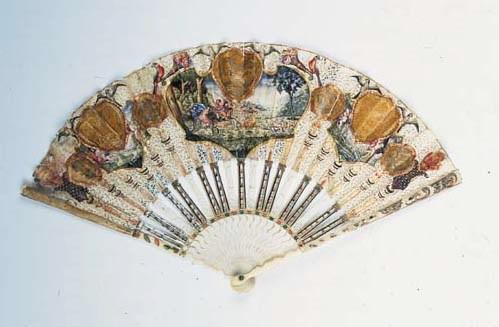 A rare decoupe fan attributed