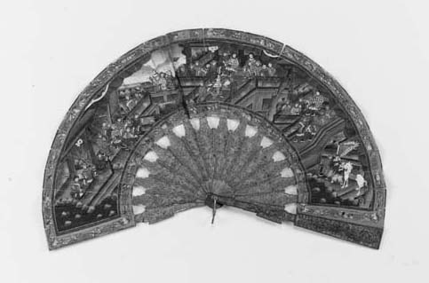 A Canton telescopic fan, the l