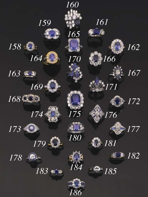 A 19th Century, sapphire and d