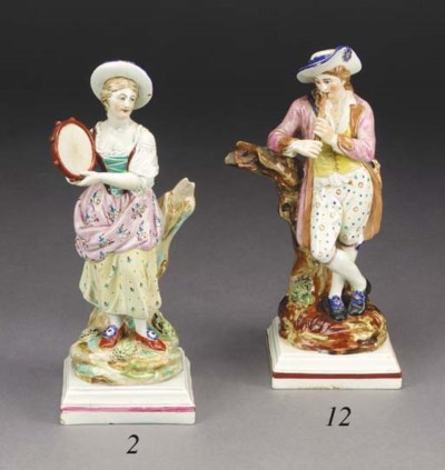 A Neale & Co. pearlware figure