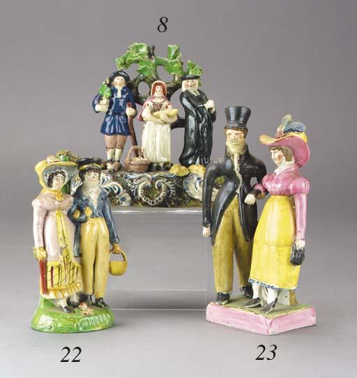 A pearlware group of Dandies