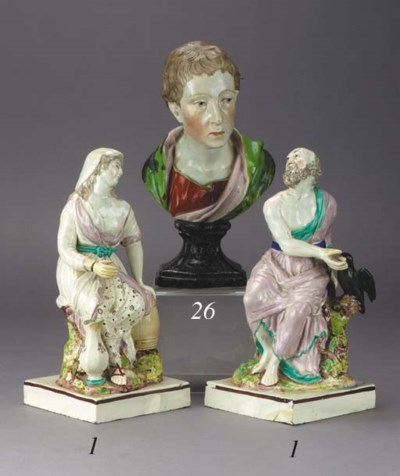 A pearlware bust