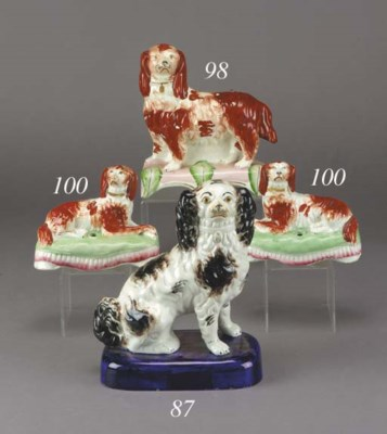 A model of a seated spaniel