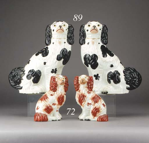A pair of models of spaniels