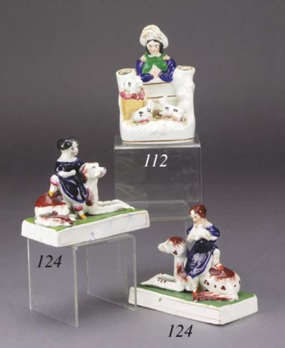 A pair of porcelain groups of