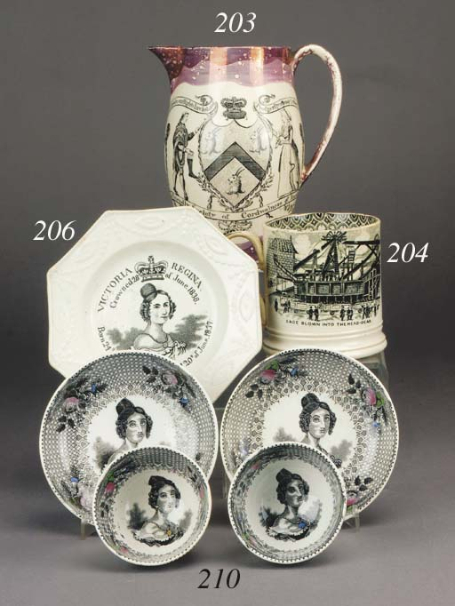 A cylindrical pottery mug