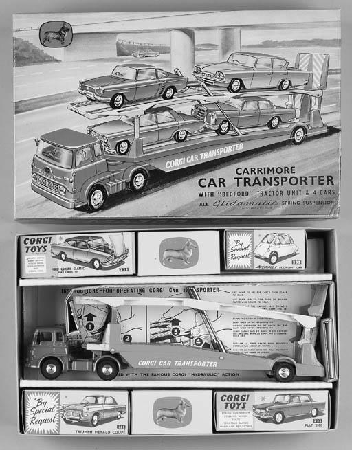 Corgi Gift Set 28 Car Transporter and Four Cars