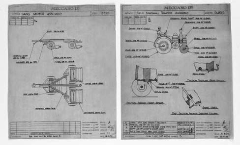 Dinky Drawings - Farm Vehicles and Equipment