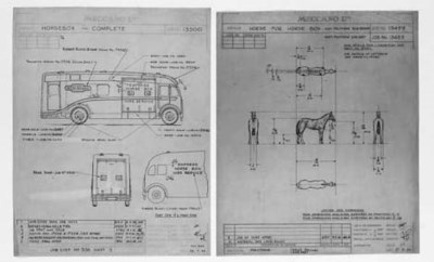 Dinky Drawings - Horse Boxes