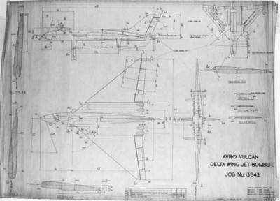 Dinky Drawing - Avro Vulcan De