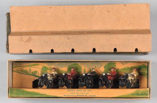 Dinky Pre-War Set 37A Civilian Motorcyclists