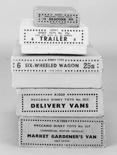 Dinky Pre-War Empty Boxes
