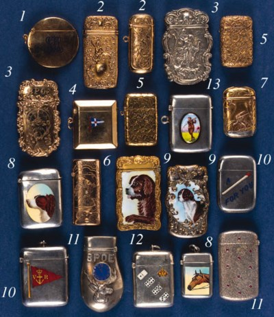A gold vesta case