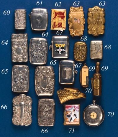 A silver-plated vesta case,