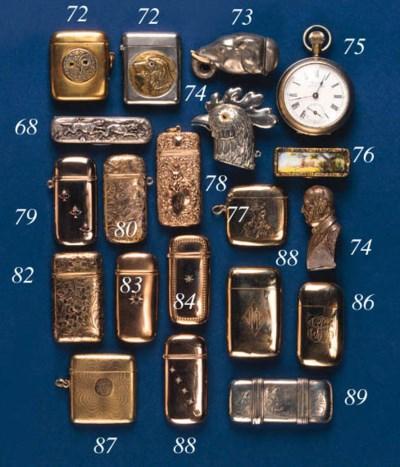 A silver-plated vesta case