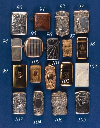 A silver vesta case,