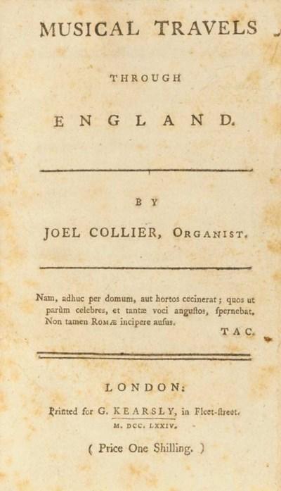 COLLIER, Joel.  Musical Travel