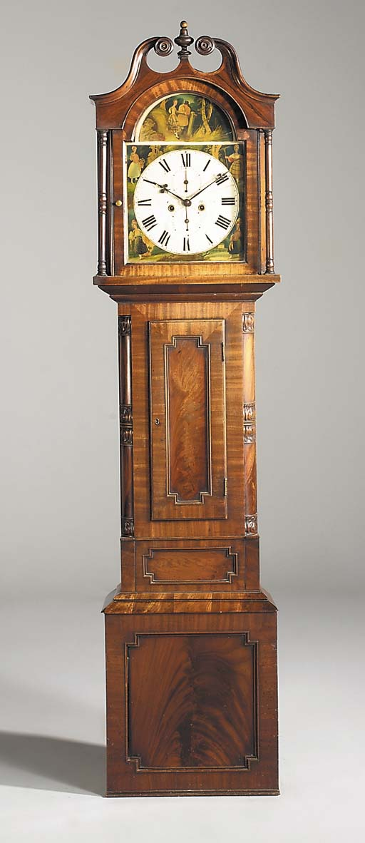 A William IV mahogany longcase clock, second quarter 19th century