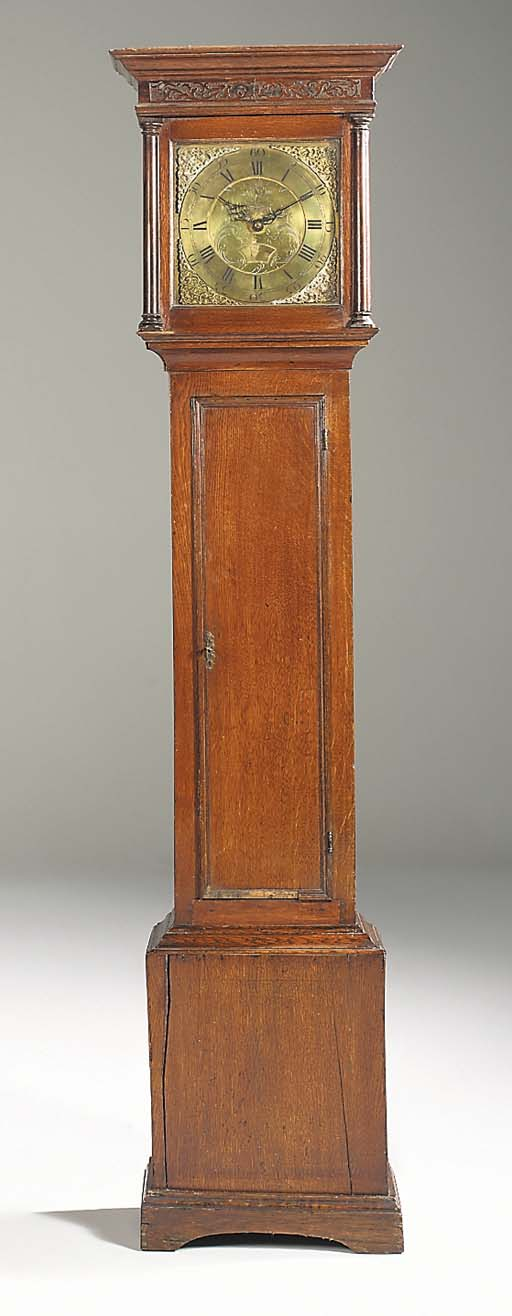 A George III oak thirty-hour l