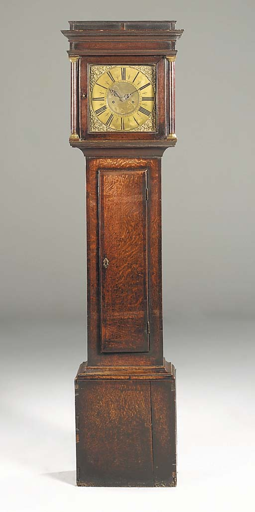 An English oak longcase clock,