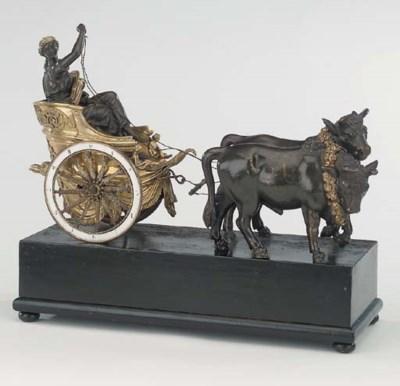 An Austrian bronze and ormolu