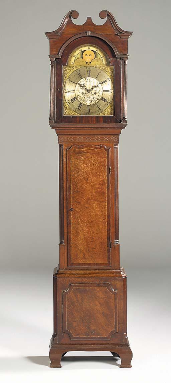 An English mahogany longcase c