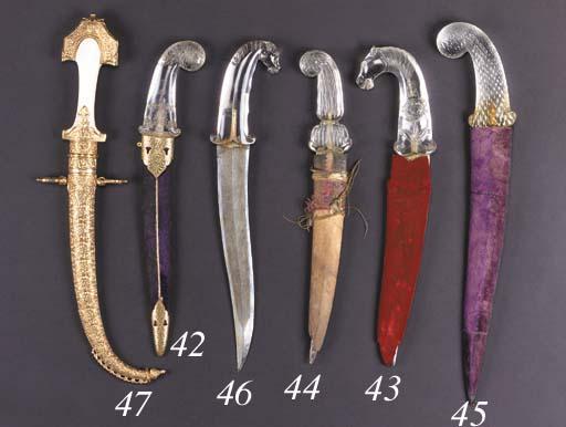 An Indian steel dagger 20th Ce
