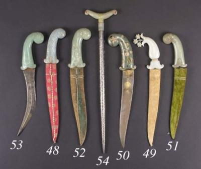 An Indian steel dagger 18th Ce