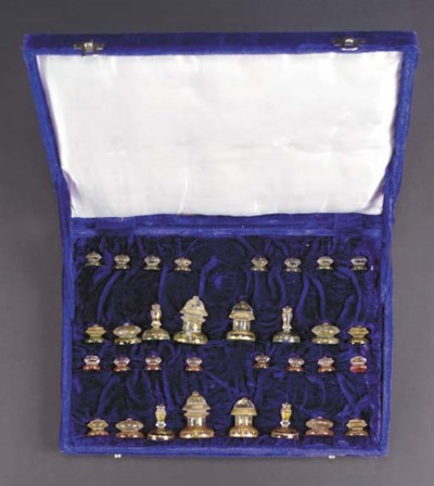 An Indian rock-crystal chess s