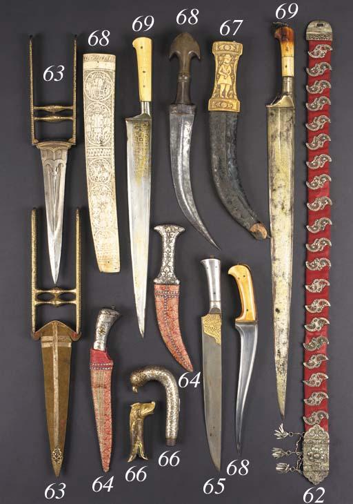 A Moghul steel dagger 18/19th