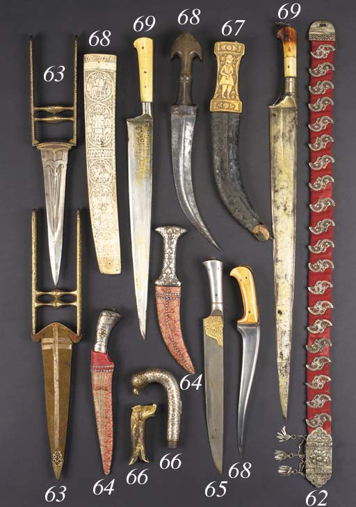 A Moghul steel dagger 18/19th century