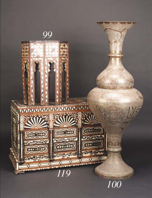 A large Cairoware baluster vas
