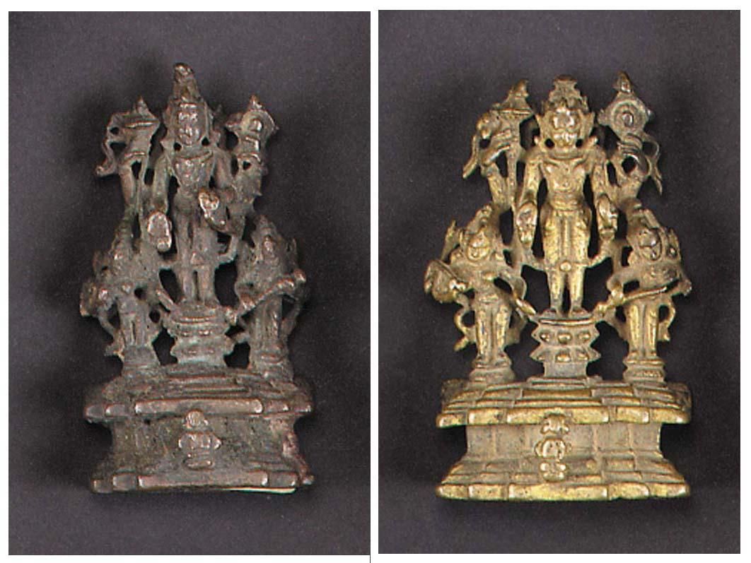 A Pala gilt-bronze figure of Vishnu 12th Century