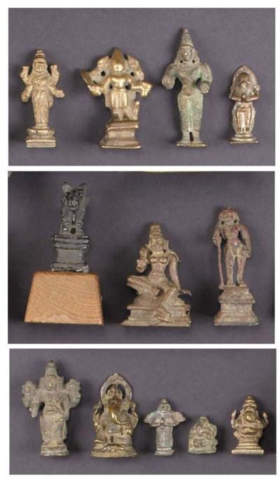 A miniature Indian bronze figu
