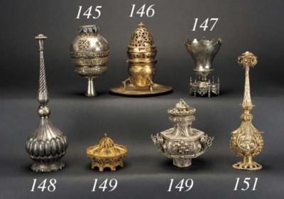 An Indian silver-gilt filigree