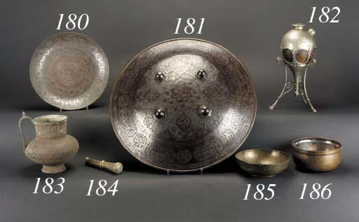 A Persian brass magic bowl 18t