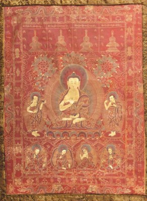 Thanka Tibet, 19th century