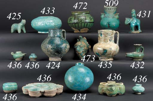 A Syrian turquoise jug