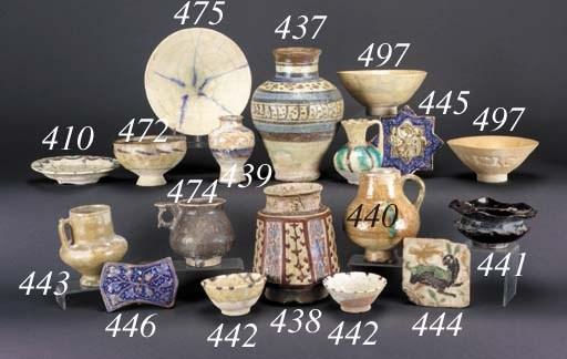 A Syrian lustre pottery jar
