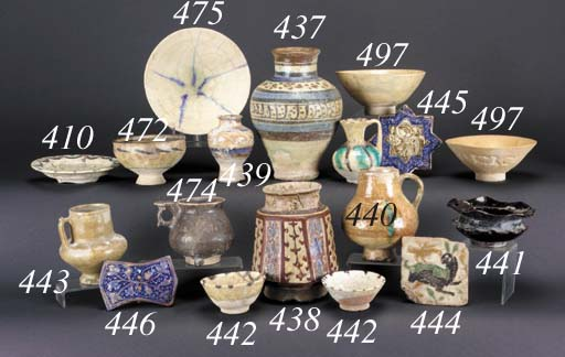 A Kashan pottery jug