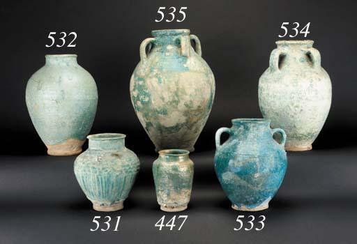 A Kashan pottery jar