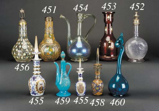 An Islamic clear glass ewer